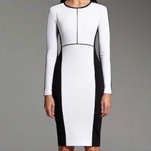Narcissi Rodriguez color block dress